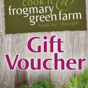 Frogmary vouchers for cookery classes and pop-up restaurant